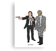 Jules and Vincent from Pulp Fiction Typography Quote Design Canvas Print