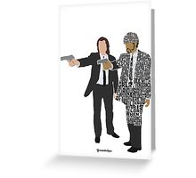 Jules and Vincent from Pulp Fiction Typography Quote Design Greeting Card