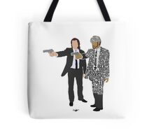 Jules and Vincent from Pulp Fiction Typography Quote Design Tote Bag