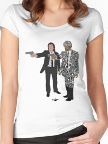 Jules and Vincent from Pulp Fiction Typography Quote Design Women's Fitted Scoop T-Shirt