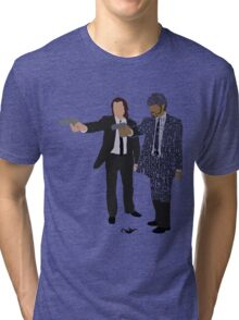 Jules and Vincent from Pulp Fiction Typography Quote Design Tri-blend T-Shirt