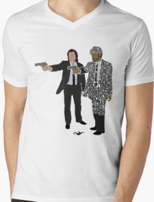 Jules and Vincent from Pulp Fiction Typography Quote Design Mens V-Neck T-Shirt