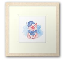 Piglet. Winter Framed Print