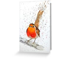 Robin's Landed Greeting Card
