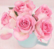Pink Roses In Full Bloom by carolynrauh