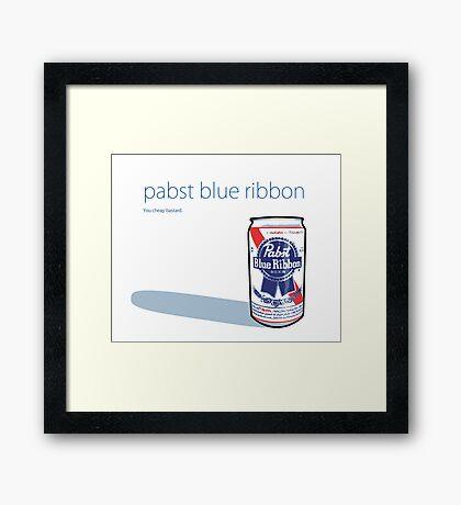 PABST - BLUE RIBBON Framed Print