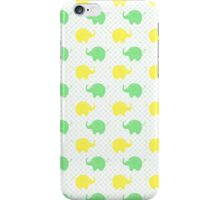 Cute Yellow and Green Elephants iPhone Case/Skin