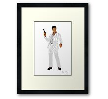 Tony Montana from Scarface Typography Quote Design Framed Print