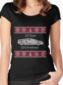 Go Slow For Christmas Women's Fitted Scoop T-Shirt