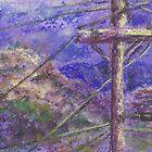Power Pole (pastel) by Niki Hilsabeck