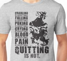 Quitting Is Not Acceptable (Ripped Back Saiyan) Unisex T-Shirt