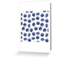 Hand painted ink flowers pattern. Greeting Card