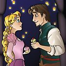 Disney Couples - Rapunzel & Flynn by Lauren Eldridge-Murray