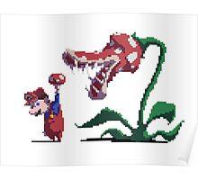 Mario vs Piranha Plant Poster