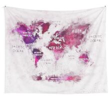 world map 30 Wall Tapestry