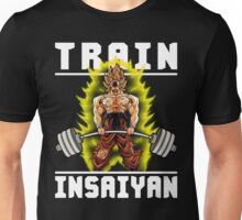 TRAIN INSAIYAN (Goku Deadlift - Colored Print) Unisex T-Shirt