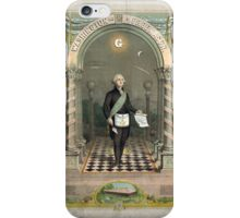 George Washington as a Freemason iPhone Case/Skin