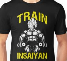 TRAIN INSAIYAN - Vegeta Holding Dumbbells Unisex T-Shirt