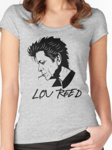 Lou Reed (Black) Women's Fitted Scoop T-Shirt