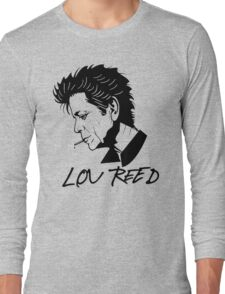 Lou Reed (Black) Long Sleeve T-Shirt