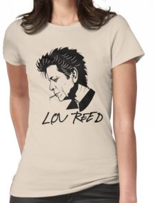 Lou Reed (Black) Womens Fitted T-Shirt
