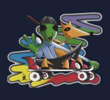 skateboard aliens Kids Tee