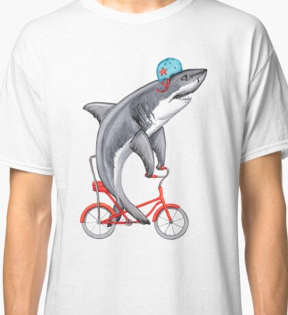 Cycling Shark  Classic T-Shirt