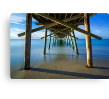 Beneath the Fishing Pier Canvas Print