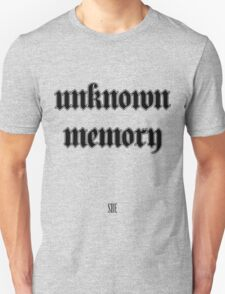 Unknown Memory (SBE) Black Unisex T-Shirt