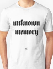 Unknown Memory (SBE) Black T-Shirt