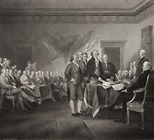 Signing the Declaration of Independence by Vintage Works