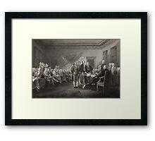 Signing the Declaration of Independence Framed Print