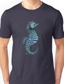 Seahorse II ~ Ink and Watercolor Unisex T-Shirt