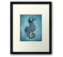 Seahorse II ~ Ink and Watercolor Framed Print