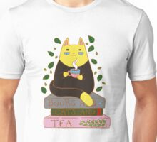 Books And Cats And Tea Unisex T-Shirt