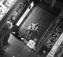 Busking with the Homeless, Melbourne City Streets by Tracii C Photography
