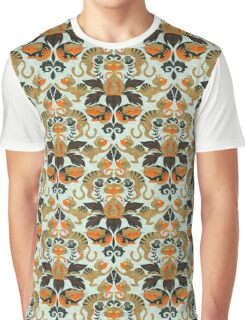 Damask cats Graphic T-Shirt