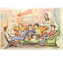 The One Where They're Cartoons Photographic Print