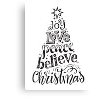 Christmas Lettering Canvas Print