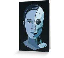 Robot Woman Greeting Card