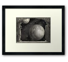 Earth, Moon, and the Milky Way Galaxy Framed Print