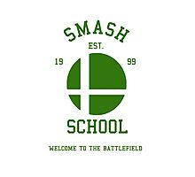 Smash School (Green) Photographic Print