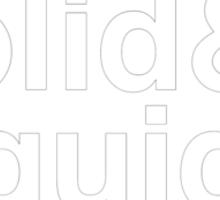 NAKED & SOLID & LIQUID & SOLIDUS Sticker