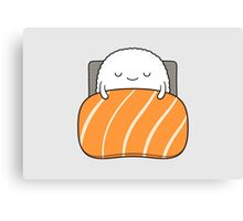 sleepy sushi bed Canvas Print