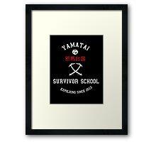 Yamatai Survivor School (White) Framed Print