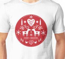 Scandinavian Christmas Design Unisex T-Shirt