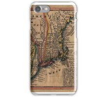 Map Of New England 1729 iPhone Case/Skin