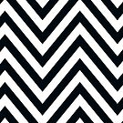 MODERN CHEVRON PATTERN bold black white by Kat Massard