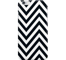MODERN CHEVRON PATTERN bold black white iPhone Case/Skin