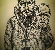 Ivan the Terrible ink drawing by Art Enlightenment
